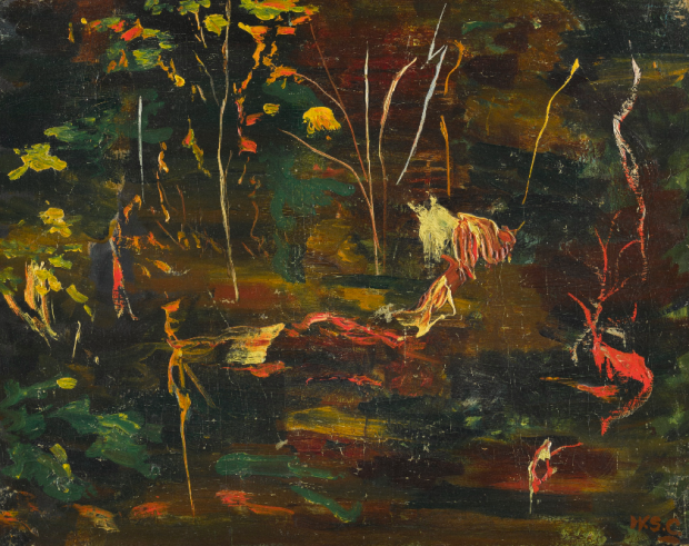 THE GOLDFISH POOL AT CHARTWELL Чърчил източник: http://www.sothebys.com/