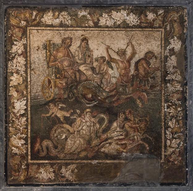 Посейдон и Амфитрита на сватбена колесница