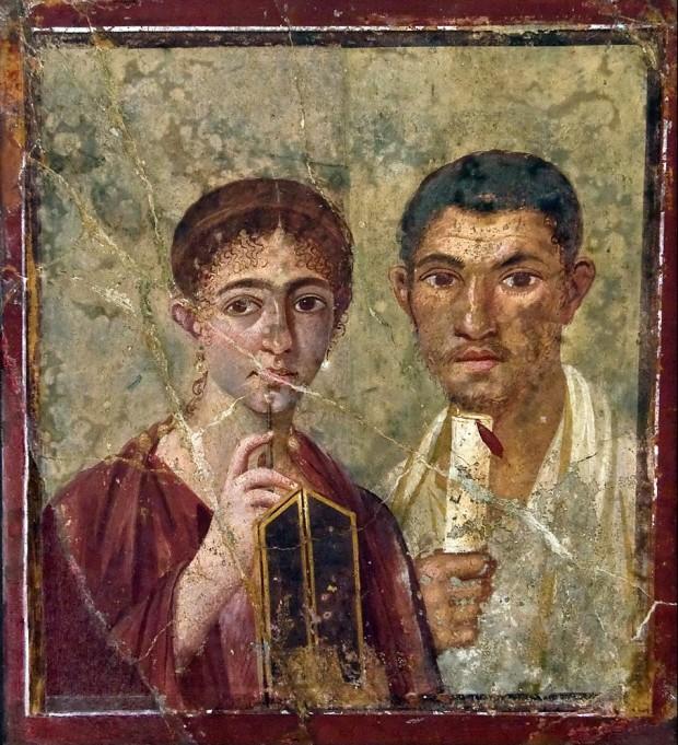 Терентиус Нео и съпругата му (Terentius Neo and his wife) Намерена в Помпей