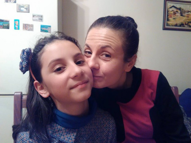 Сестра ми Биляна и дъщеричката й Ирина
