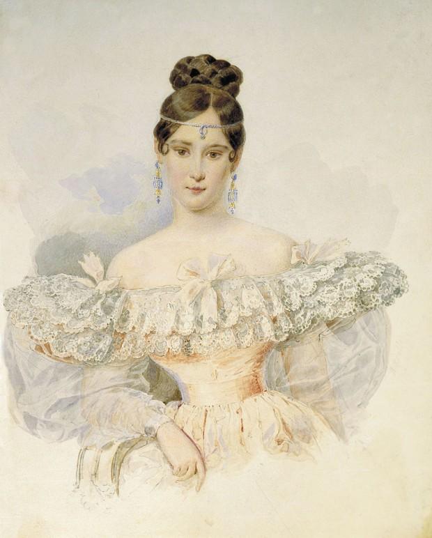 Наталия Гончарова - съпруга на Пушкин