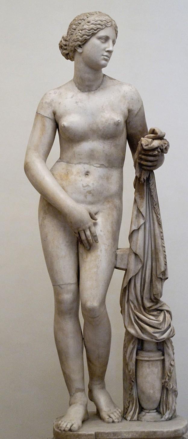 """Възстановка на """"Афродита Книдска"""" в Националния музей в Рим"""