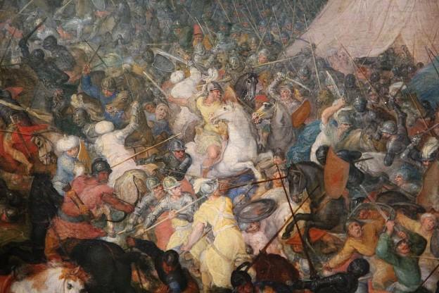 """""""Битката при Иса"""" художник: Ян Брьогел Стария (1568–1625)"""