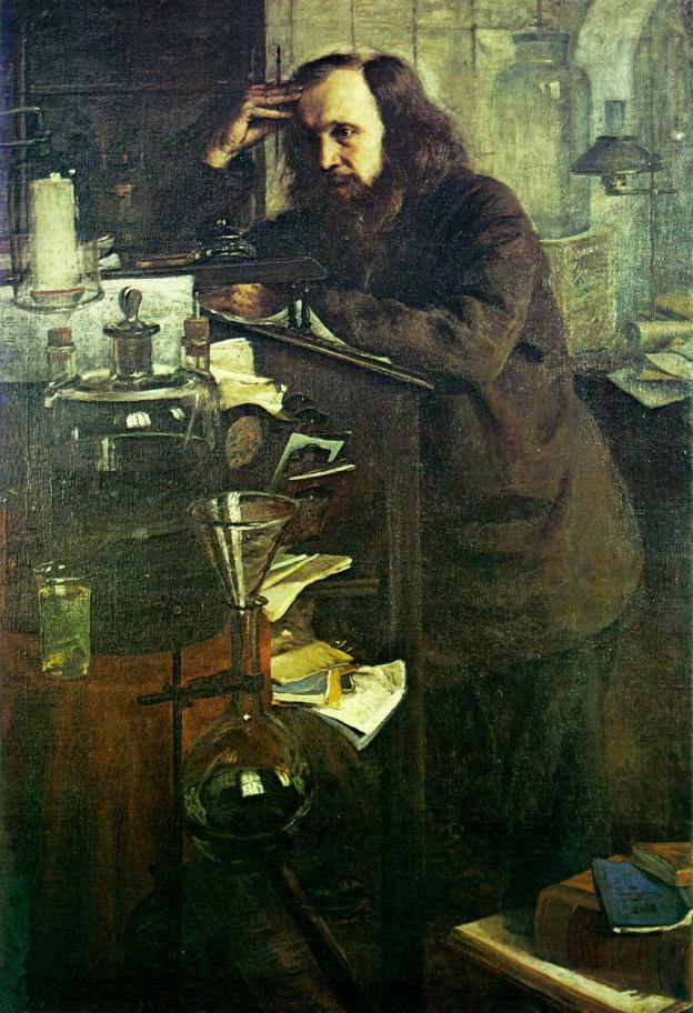 Д. И. Менделеев (1886) художник: Н. А. Ярошенко.
