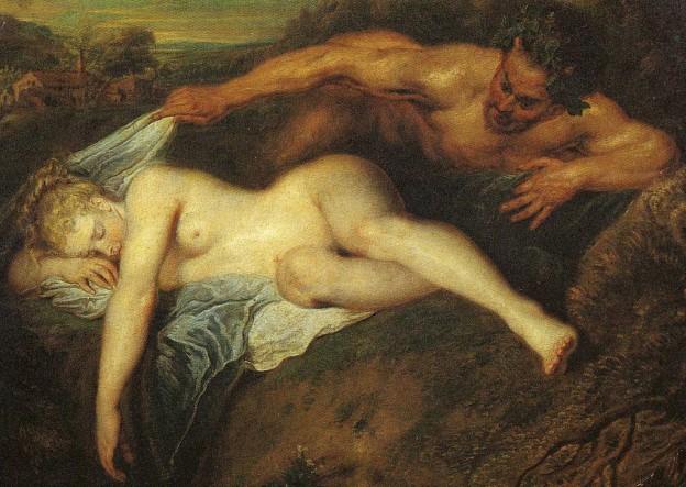 """""""Зевс и Антиопа"""" художник: Антоан Вато"""