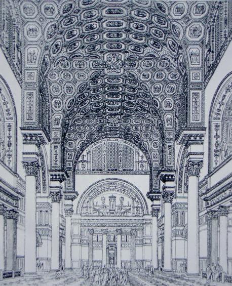 Възстановка на Термите на Каракала творба от 1899 г. източник: Уикипедия