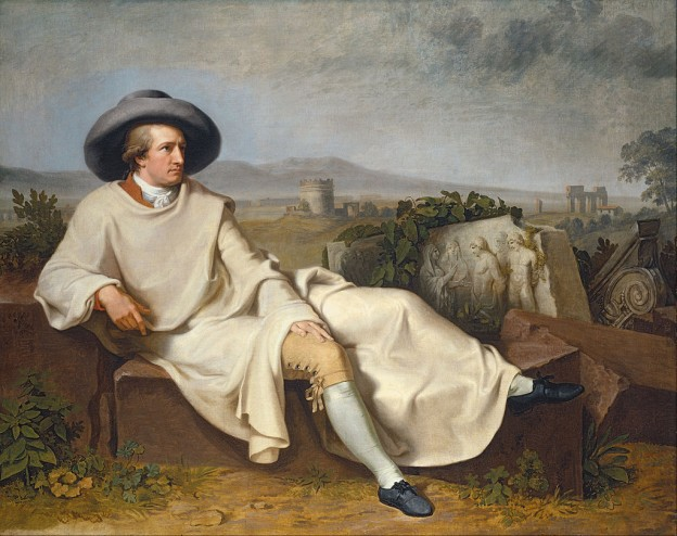 """Гьоте в Римска Кампания"" (1787) Йохан Хайнрих Вилхелм Тишбайн"