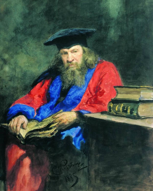 Портрет на Д. Менделеев (1885) художник: Иля Репин
