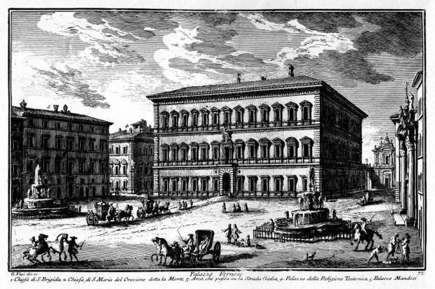 Палацо Фарнезе в ср. на   XVIII в. художник: Джузепе Васи