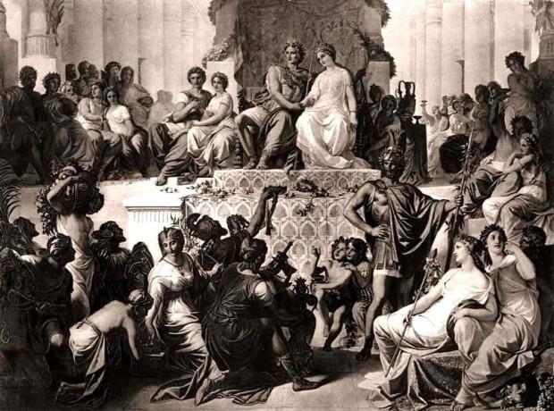 Сватбата на Александър и Статира  Картина от XIX в.