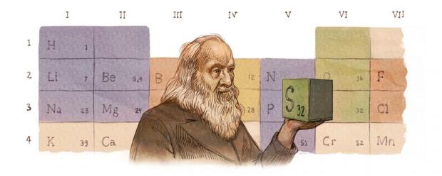 dmitri-mendeleevs-182nd-birthday-google doodle
