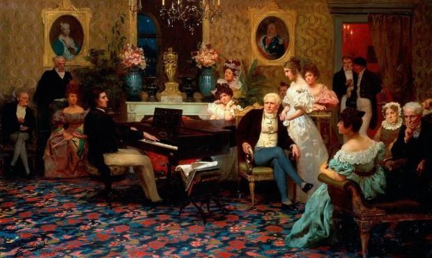 Шопен свири за Радзивил (1829)  художник: Хенрик Семирадски (1887)