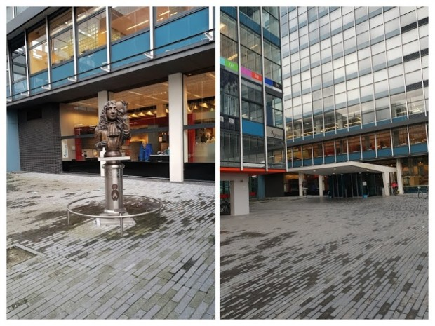 TU Delft statua math-COLLAGE