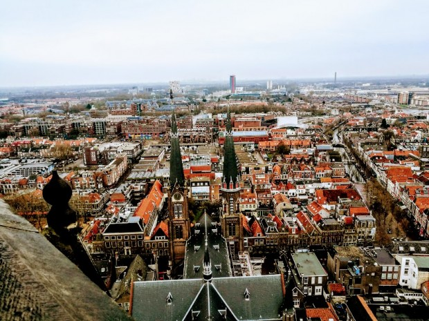 panorama delft ot novata curkva kum TU Delft