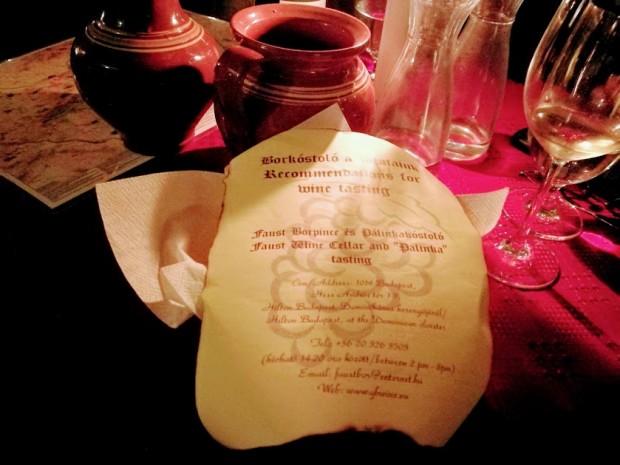 Faust vinarna budapest mail