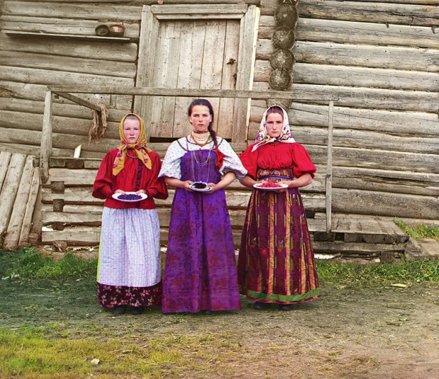 Млади руски селски жени фотограф: Сергей Прокудин-Горски