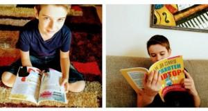"""Малкият ми син Вики с книгата """"Как да станеш #автор""""  Тази седмица и нашето семейство се сдоби с този ценен наръчник - """"Как да станеш страхотен #автор"""". Малкият ми син веднага грабна книгата, щом разбра, че ще може да прави сюжети за видеоигри. Преди време започна да програмира благодарение на друга книга на Софтпрес - """"Scratch. Програмиране за деца"""", после започна курс по """"Разработка на игри"""", а с тази нова книга - кой знае, може и да стане и автор. :)"""