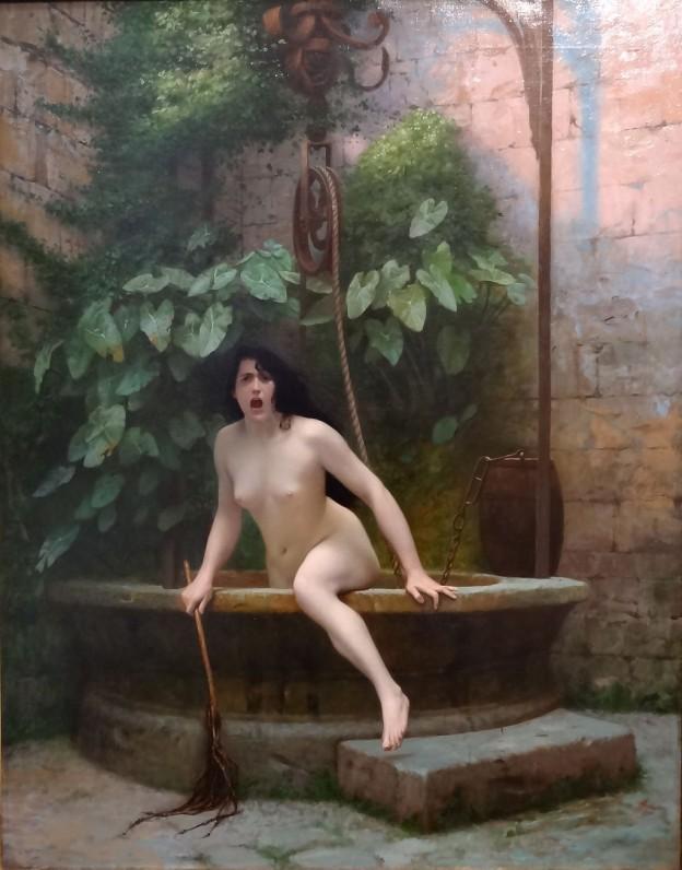 """""""Голата Истина излиза от кладенеца"""" (1896) художник: Жан Леон Жером"""