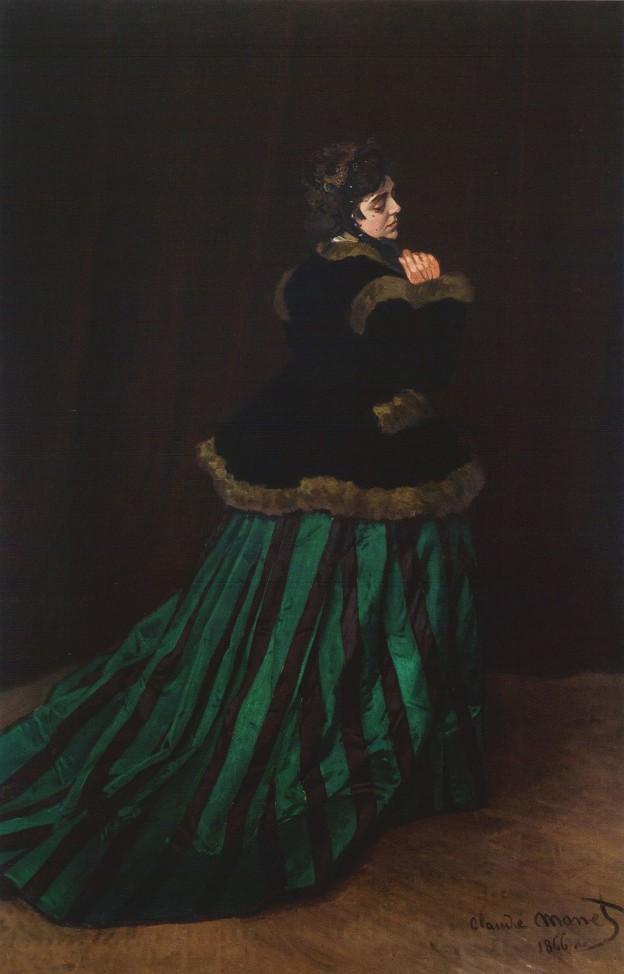 """""""Камил"""" или """"Жената със зелената рокля"""", 1866"""