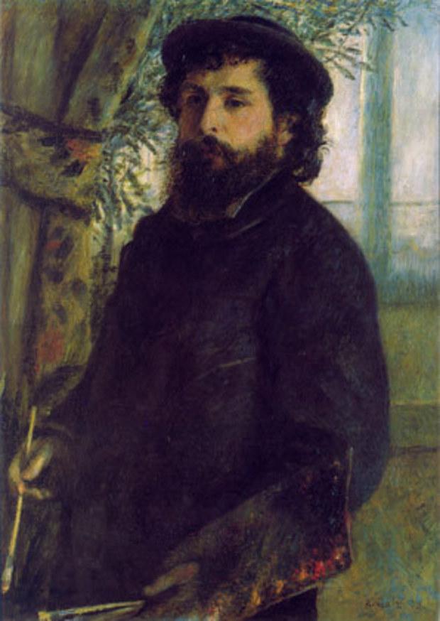 Портрет на Клод Моне художник: Реноар