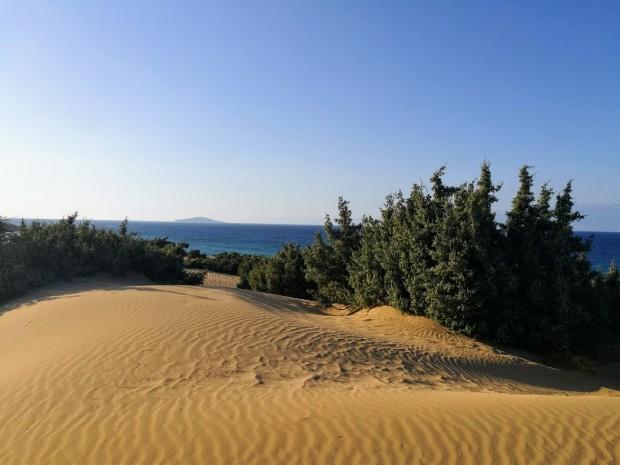 Пясъчните дюни на плажа Агиянис