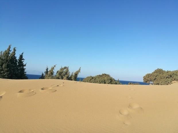 Дюни на плажа Агиянис на остров Гавдос