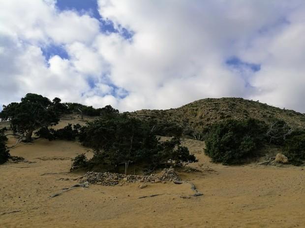 Плажните дюни на плажа Агиянис