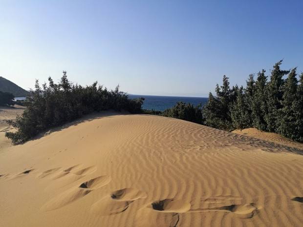 Пясъчни дюни на плажа Агиянис на остров Гавдос