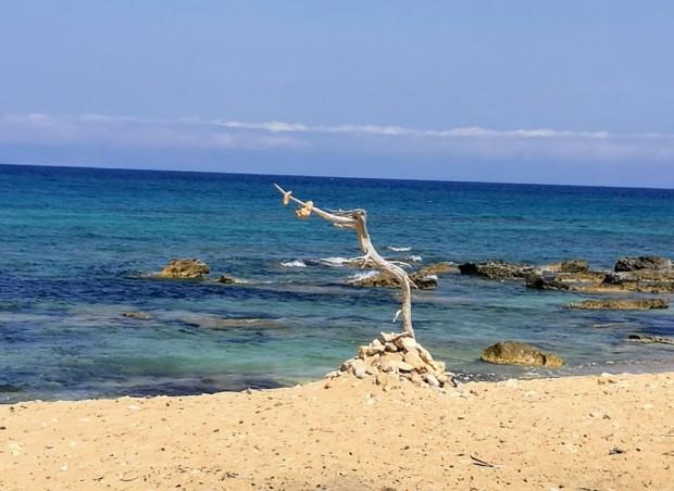 Плажът Лавракас на остров Гавдос