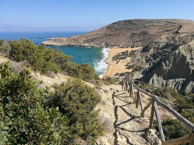 Гледка към плажа Потамос на остров Гавдос