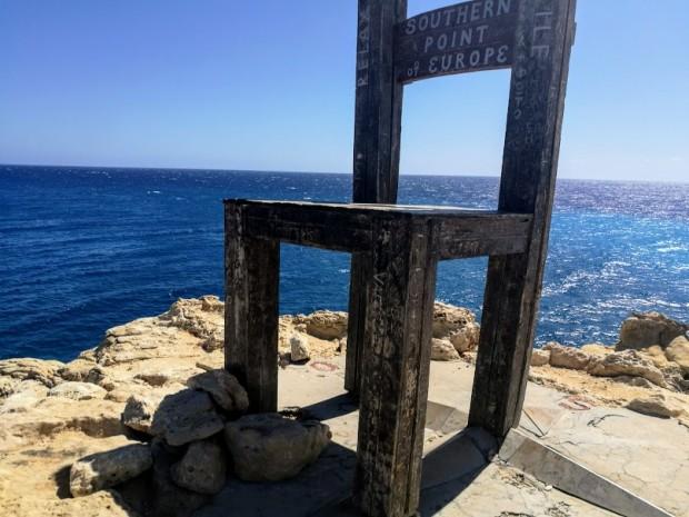 Столът на нос Трипити - най-южната точка на Европа