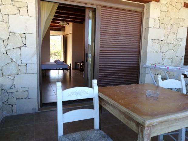 Терасата на стаята ни на остров Гавдос
