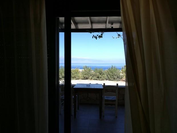 Терасата ни на остров Гавдос