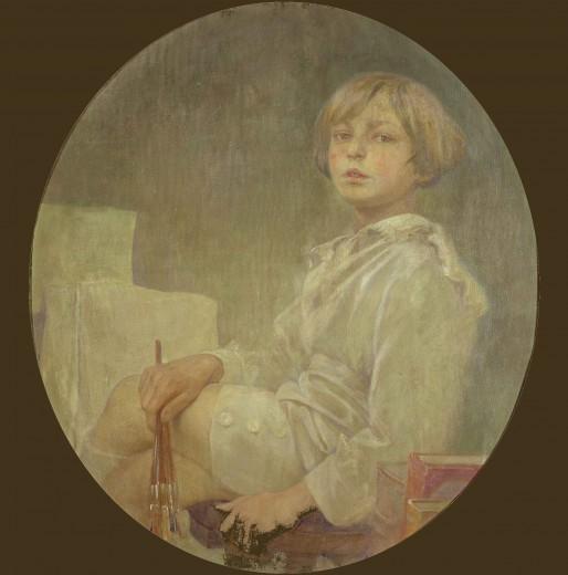Иржи Муха, нарисуван от Алфонсо Муха през 1925 г.