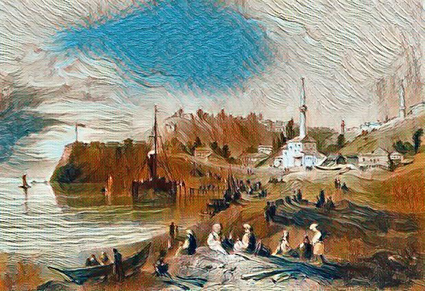 Рисунка на Русе през 1844 г.
