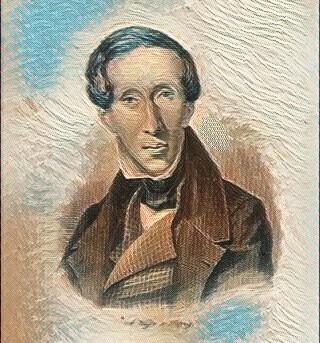 Ханс Кристиян Андерсен през 1835 г.
