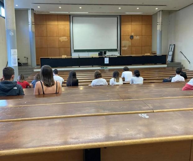 Зала в Universite Paris I Pantheon-Sorbonne снимка, предоставена от Яна Кирилова