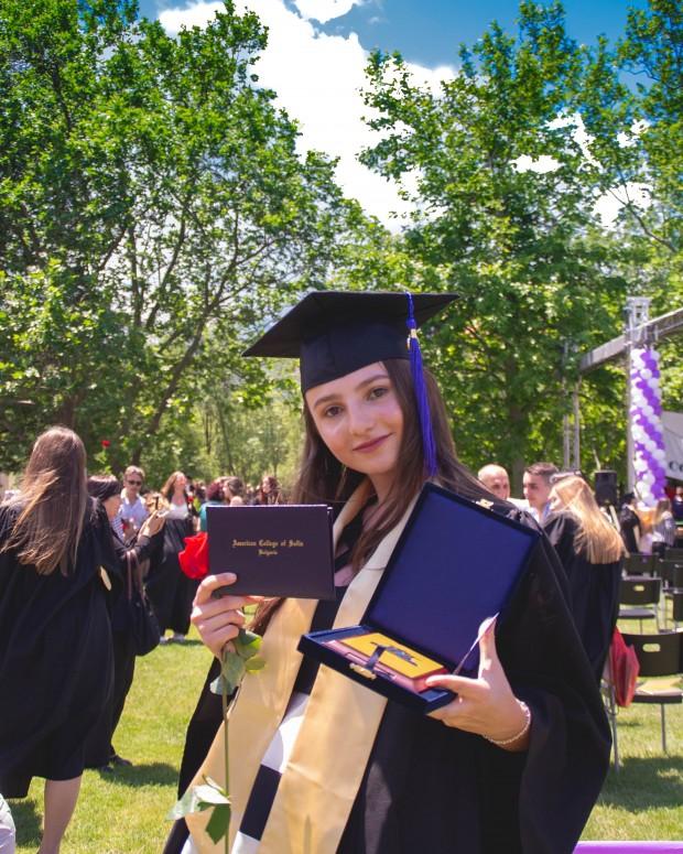Дипломирането в Американския колеж в София Снимка: Изабела Миланова