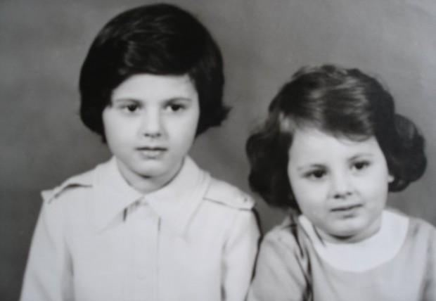 Дани и Биби като малки